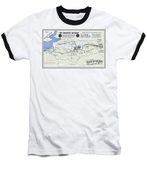 89th Infantry Division World War I I Map Baseball T-Shirt