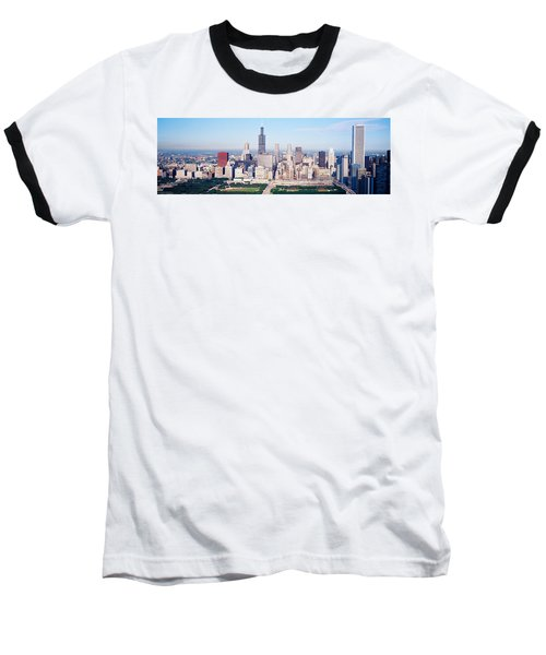 Aerial View Of Buildings In A City Baseball T-Shirt by Panoramic Images