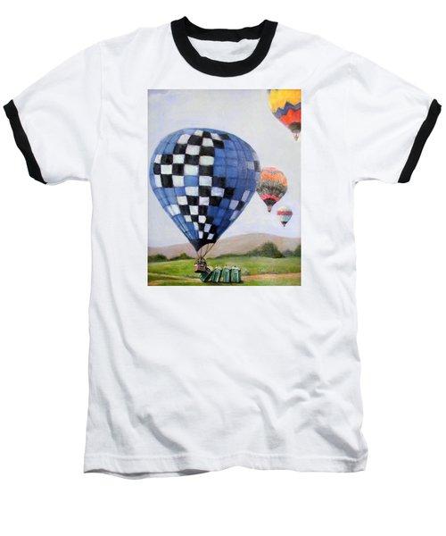 A Balloon Disaster Baseball T-Shirt by Donna Tucker