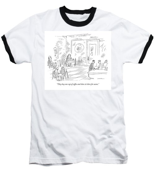 A Barista In A Coffee Shop Speaks To A Patron Baseball T-Shirt