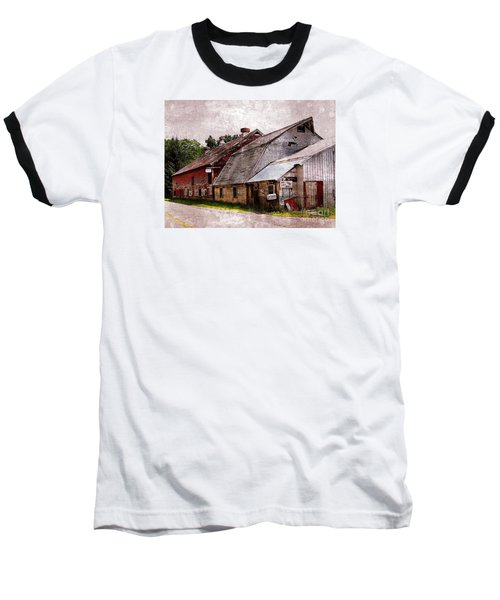 A Barn With Many Purposes Baseball T-Shirt by Marcia Lee Jones