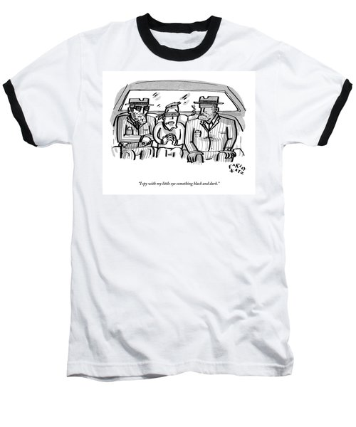 A Blindfolded Man In The Backseat Of A Car Baseball T-Shirt