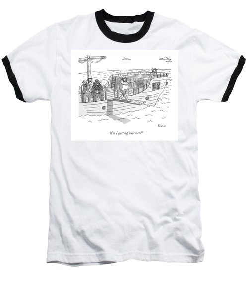 A Blindfolded Pirate Walks The Plank Baseball T-Shirt