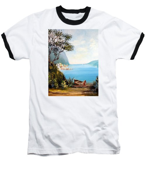 A Boat On The Beach Baseball T-Shirt