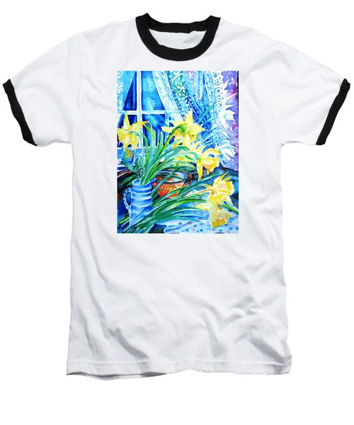 A Bouquet Of April Daffodils  Baseball T-Shirt by Trudi Doyle