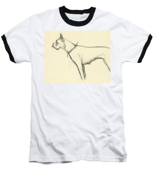 A Boxer Dog Baseball T-Shirt