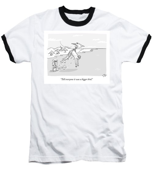 A Boy Is Carried Away By A Seagull Baseball T-Shirt