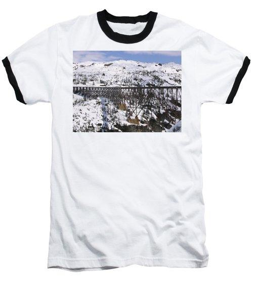 A Bridge In Alaska Baseball T-Shirt by Brian Williamson