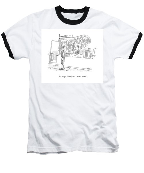 A Capeless Superherp Gives His Claim Ticket Baseball T-Shirt