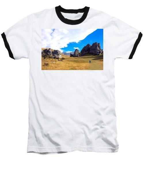 Baseball T-Shirt featuring the photograph A Castle Hill Walk by Stuart Litoff