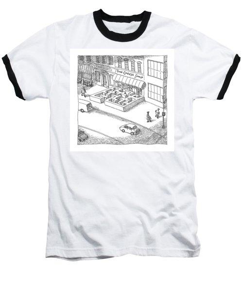 A Cheese Shop Has The Exterior Of A Mouse Maze Baseball T-Shirt