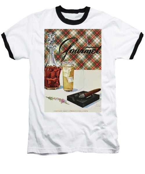 A Cigar In An Ashtray Beside A Drink And Decanter Baseball T-Shirt