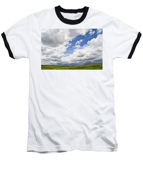 A Cloudy Day Baseball T-Shirt