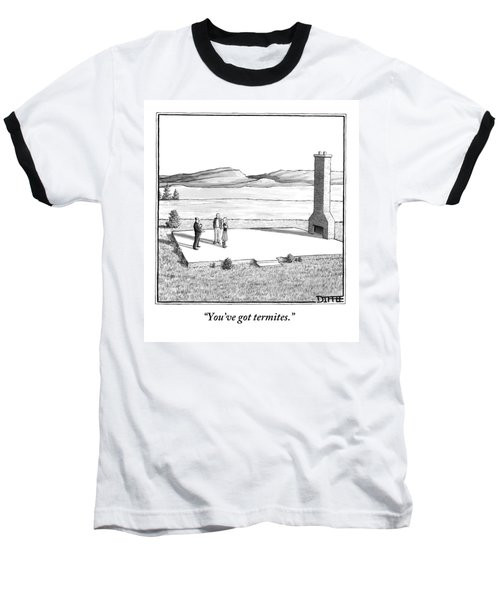 A Couple Stand In An Empty House Frame Baseball T-Shirt