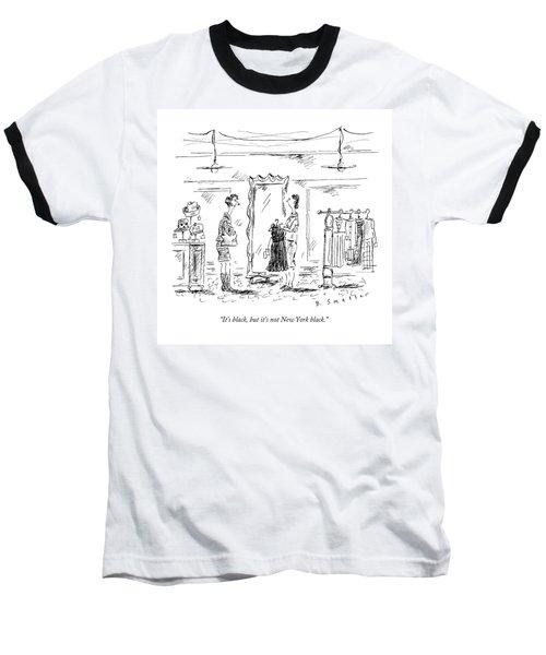 A Customer In A Dress Shop Speaks To A Saleswoman Baseball T-Shirt
