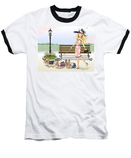 A Day At The Derby Baseball T-Shirt by Catia Cho