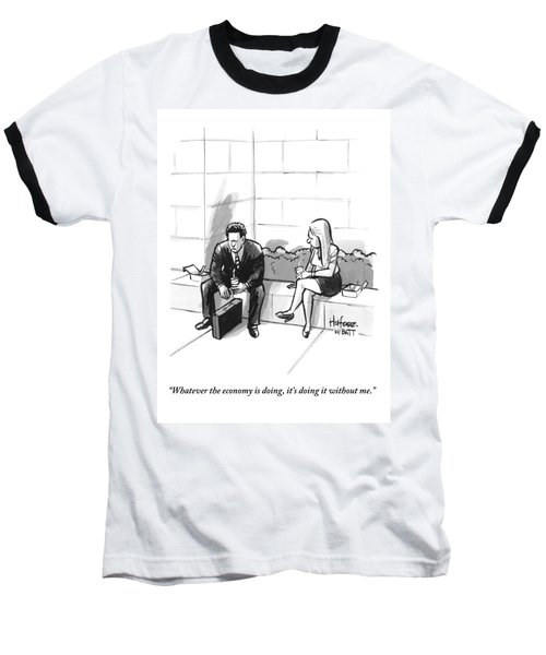 A Dejected Man Baseball T-Shirt