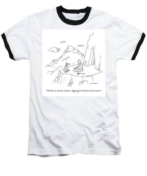 A Dog Speaks To A Guru On Top Of A Mountain Baseball T-Shirt