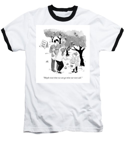 A Family Picks Apples Right From The Tree Baseball T-Shirt
