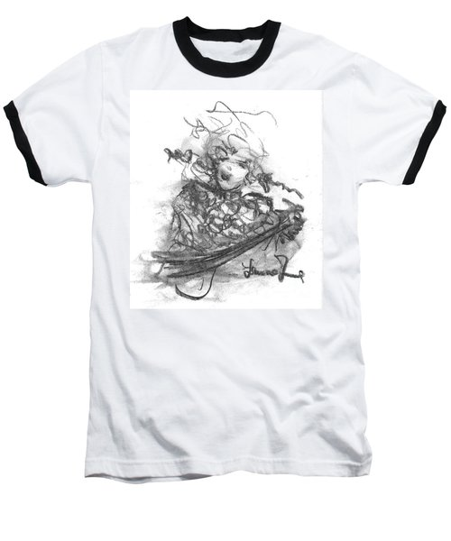 A Great Musician Baseball T-Shirt by Laurie L