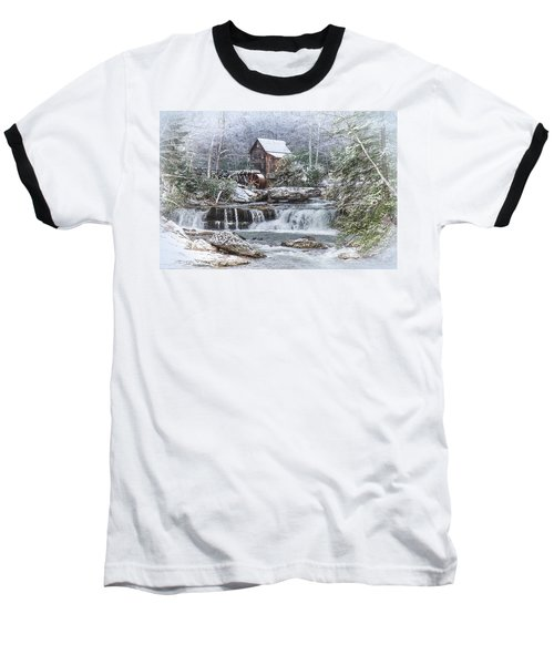 A Gristmill Christmas Baseball T-Shirt by Mary Almond