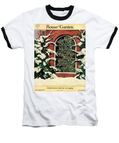 A House And Garden Cover Of A Christmas Tree Baseball T-Shirt