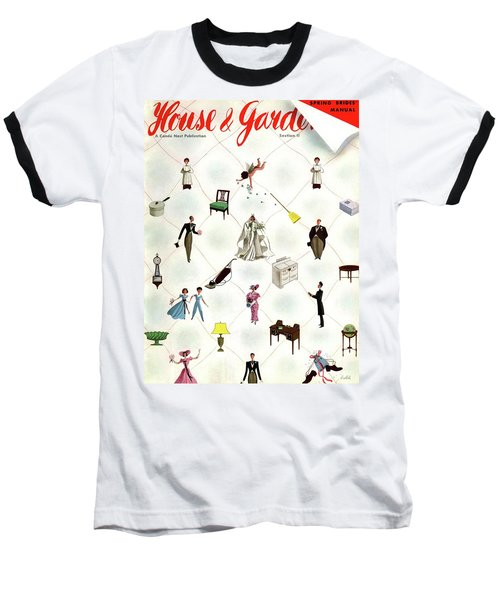 A House And Garden Cover Of People And Household Baseball T-Shirt