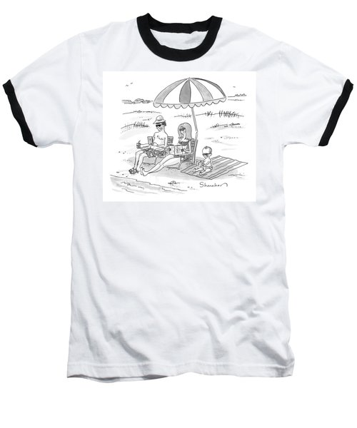 A Husband, Wife, And Their Toddler Sit Baseball T-Shirt