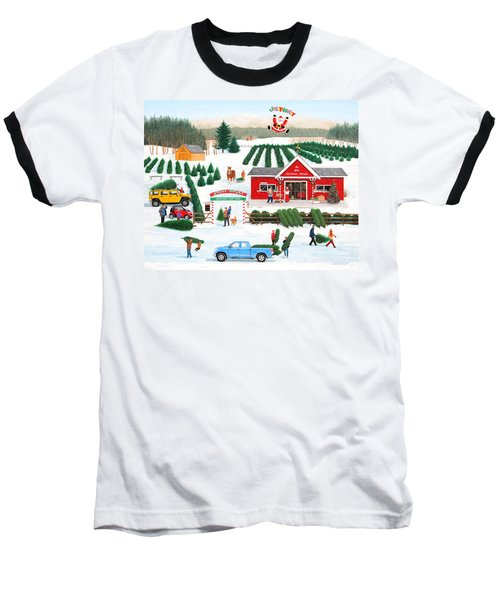A Jolly Holly Holiday Baseball T-Shirt