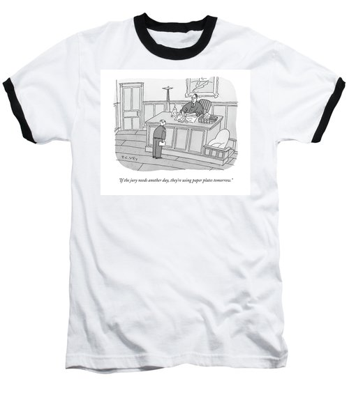 A Judge Washes Dishes In A Sink At His Desk Baseball T-Shirt