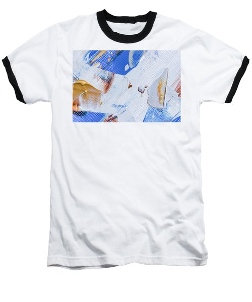 Baseball T-Shirt featuring the painting A Little Blue by Heidi Smith