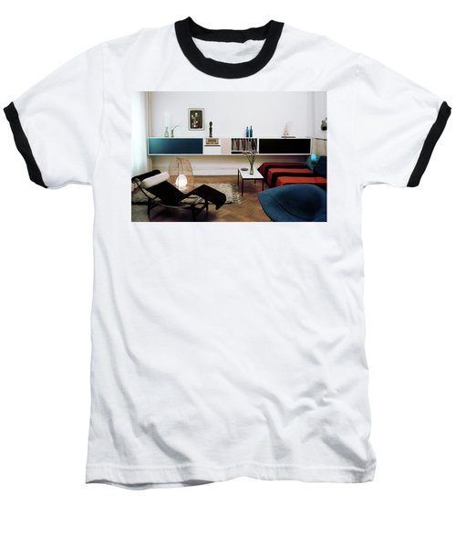 A Living Room With A Le Corbusier Chair Baseball T-Shirt