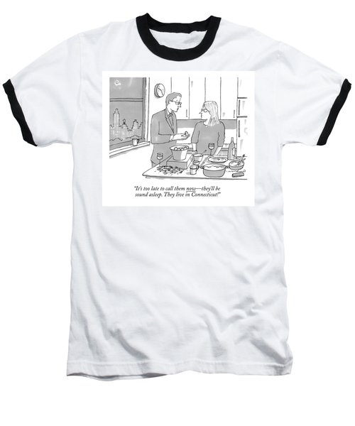 A Man And Wife Stand In The Kitchen Baseball T-Shirt