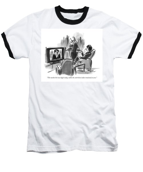 A Man And Woman Are Seen In A Living Room Baseball T-Shirt