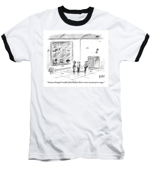 A Man And Woman Are With A Real Estate Agent Baseball T-Shirt