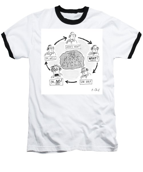 A Man Goes Through Cyclical Reactions To A News Baseball T-Shirt