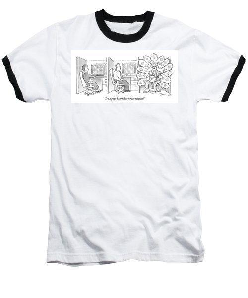 A Man In A Huge Baseball T-Shirt