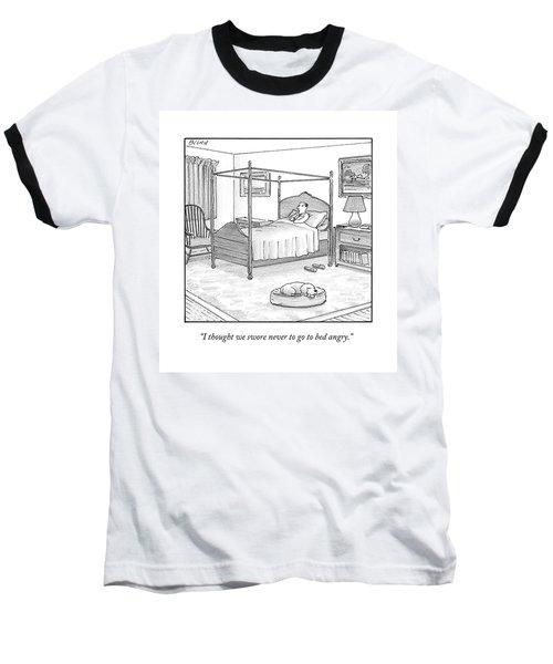 A Man Lies In Bed Baseball T-Shirt