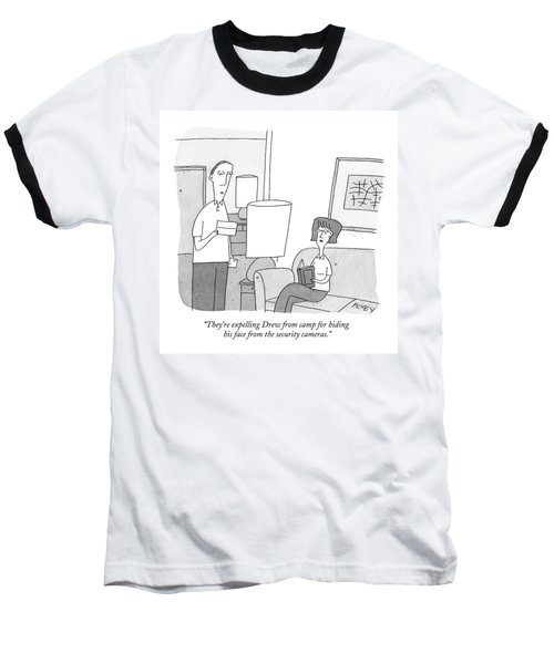 A Man Reads A Letter Aloud To His Wife Baseball T-Shirt