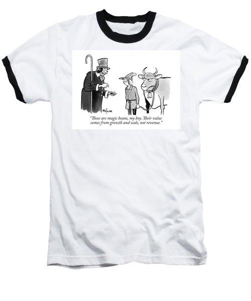 A Man Sells A Boy Leading A Cow  Beans -- Jack Baseball T-Shirt