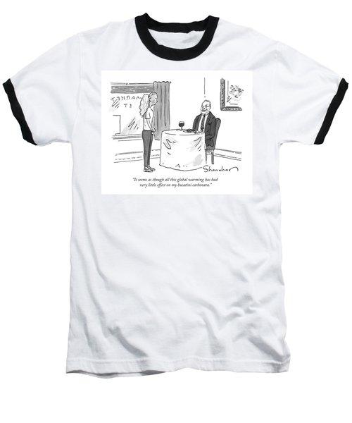 A Man Speaks To A Waitress Baseball T-Shirt