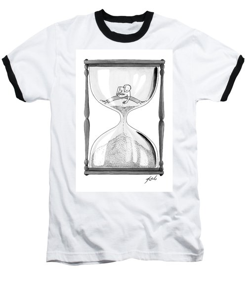 A Man Stands In The Top Half Of An Hourglass Baseball T-Shirt