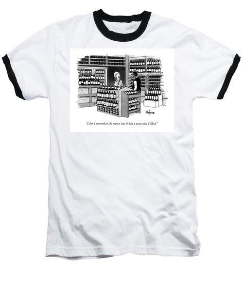 A Man Talking To An Employe At A Wine Store Baseball T-Shirt