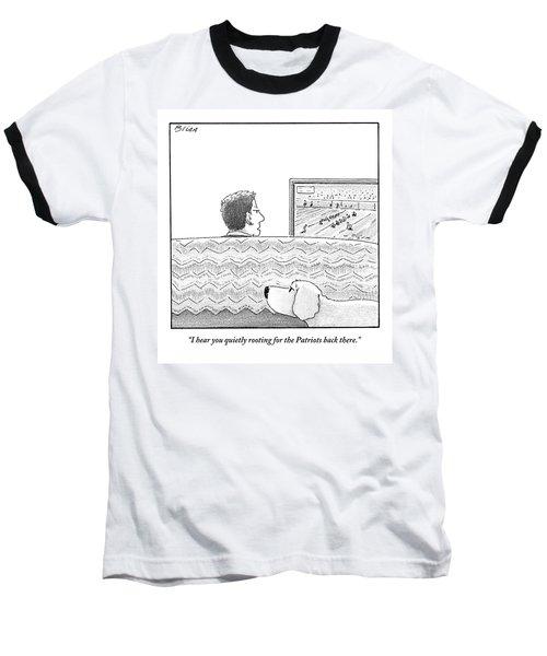 A Man Watches His Football Team Take Baseball T-Shirt