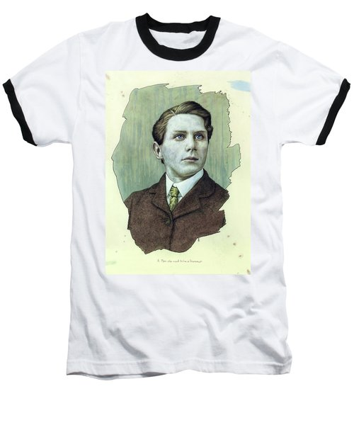 Baseball T-Shirt featuring the painting A Man Who Used To Be A Dreamer by James W Johnson