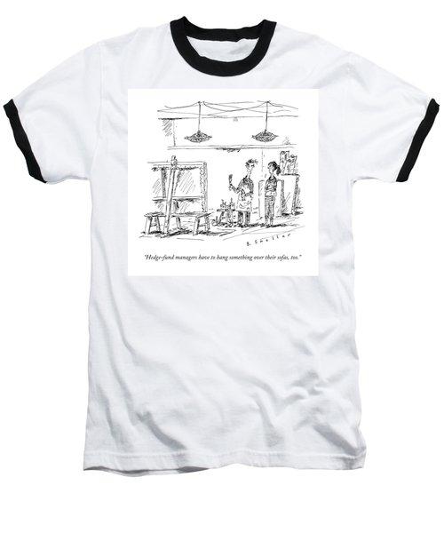 A Man With A Smock Baseball T-Shirt