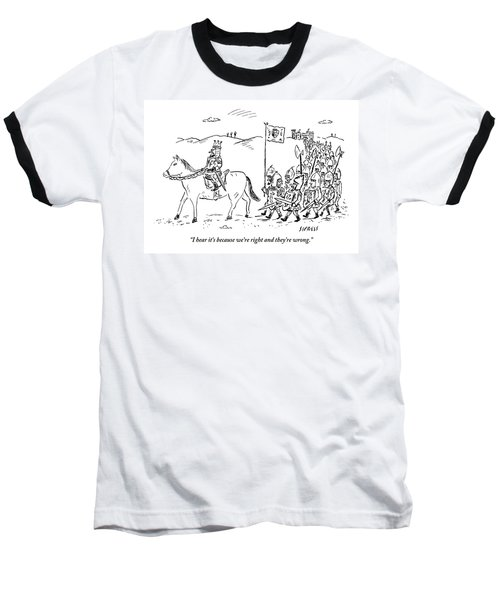 A Medieval Army Leaves A Castle On Foot Led Baseball T-Shirt
