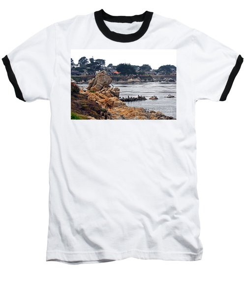 Baseball T-Shirt featuring the photograph A Misty Day At Pacific Grove by Susan Wiedmann