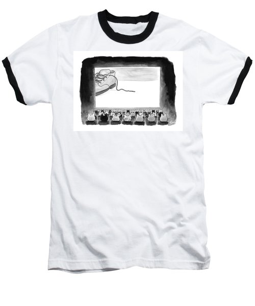 A Movie Theater Audience Of All Cats Watches Baseball T-Shirt