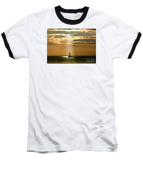 Baseball T-Shirt featuring the photograph Roker Pier Sunderland by Morag Bates